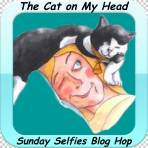Cat On My Head Selfie Badge